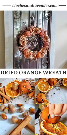 Christmas In July, Christmas Wreaths, Christmas Crafts, Christmas Decorations, Christmas Ideas, Dried Orange Slices, Dried Oranges, Hygge, Fruit Crafts