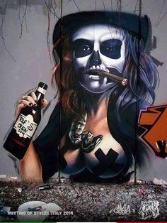 Graffiti Girl, Graffiti Doodles, Best Graffiti, Urban Graffiti, Graffiti Murals, Mural Art, Grafitti Street, Street Art Banksy, Urban Street Art