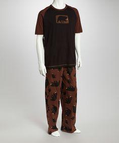cb594ddefe67 Lazy One Brown   Black Raglan Tee - Men s Regular