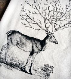 Woodland Deer Tea Towel | Home Kitchen & Pantry | The Coin Laundry | Scoutmob Shoppe | Product Detail
