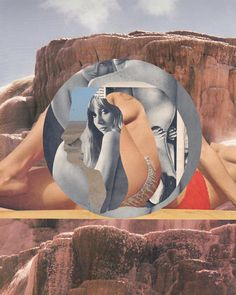 From nude women emerging out of rock formations to strategically placed lillies, the Australian artist's collaged worlds will melt your mind.