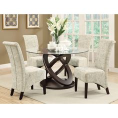 Acres 5 Piece Wood/Glass Dining Set By Red Barrel Studio