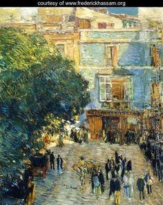 "Frederick Childe Hassam:  ""Square at Sevilla"""