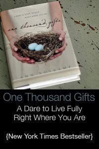 A Holy Experience – One Thousand Gifts....next read, i am beginning to have a lot of next reads