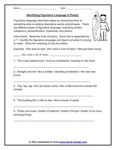 Printable Figurative Language Worksheets | Printable Pages ...
