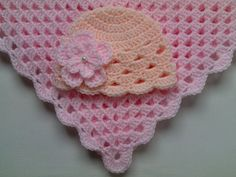 Crochet baby blanket and baby hat set Material: Baby care high quality acrylic yarn, very soft, pearl. Machine warm wash at 40C Made with love.  Blanket sizes: 23 x 23 ( 60cm x 60cm ) 27 x 27 ( 70cm x 70cm ) 31 x 31 ( 80cm x 80cm ) 35 x 35 ( 90cm x 90cm ) PLEASE SELECT A SIZE.  Baby Hat Sizes:  0 - 1 months 1 - 3 months 3 - 6 months 6 - 12 months 12 - 24 months  Please select baby hat size.  PLEASE select a colour of a hat: LILAC or PEACH, and add a note when buying.  For more blankets in my…