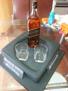 Johnny Walker Birthday Cake