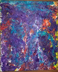 """"""" Purble rain """" Acryl auf Leinwand  60 x 50 cm.  € 230,-- zzgl. Versand"""