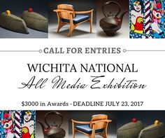 WICHITA NATIONAL ALL MEDIA EXHIBITION - DEADLINE JULY 23, 2017 - $3000 IN AWARDS. Mark Arts invites all North American artists to apply for the Wichita National All Media Exhibition, September 8 – October 15, 2017. The exhibition is open, but not limited, to the following: ceramics, enamels, fiber, furniture, glass, jewelry, metalsmithing, paper, wood and mixed media, photography, painting, drawing, printmaking…