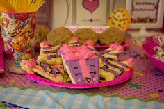 Shopkins cookies, birthday treats, home made sugar cookies. Stillness photo