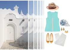 Inspired by the textures and color palettes found in photographs of Greece, this is how we would wear travel chic. Take us away.