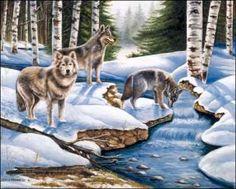 Winter Wolves Paper Tole 3D Kit Size 8x10 $15.00 + $5.75 shipping  DSC http://smile.amazon.com/dp/B008JFV90I/ref=cm_sw_r_pi_dp_byT7tb0PHWAA3
