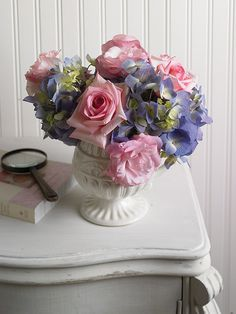 Flowers on a Nightstand by Flower Factor, via Flickr