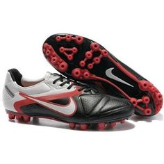 http://www.asneakers4u.com Nike CTR360 Maestri II AG Mens Artificial Grass Football Cleats In Black Challenge Red White