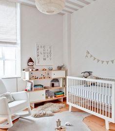 Elegir una cuna de madera blanca para la habitación del bebé - Mamidecora