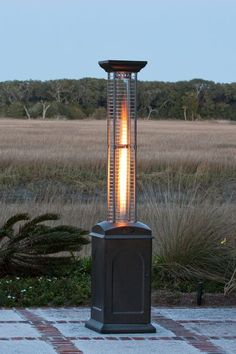 Fire Sense Mocha Finish Square Flame Propane Patio Heater – Modern Blaze