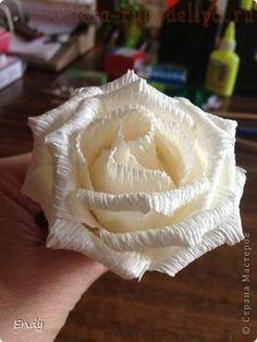 Мастер-класс по букетам из конфет: Белые розы