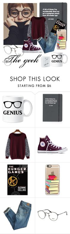 """""""The geek,the nerd style"""" by anthiath on Polyvore featuring Topshop, Converse, Casetify, American Eagle Outfitters, Ray-Ban and Happy Plugs"""