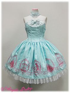 Angelic Pretty - Aqua Princess JSK - Mint