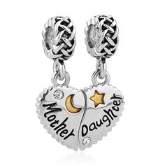 ce986bf90 Roy Lopez Mom Mother Daughter Heart Dangle Love Charm Bead For Bracelets --  Find out more about the great product at the image link.