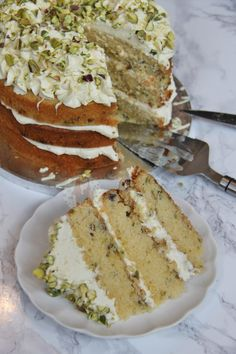 White Chocolate and Pistachio Cake! - Jane's Patisserie