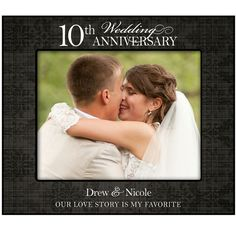 our love story is my favorite personalized 10th wedding anniversary 10th anniversary photo frame
