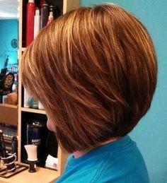 Shaggy Short Bob Hairstyles 2015 Back View