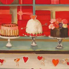 WEBSTA @ janethillstudio - Getting in the mood for Valentine's Day with my 'Love Spells' print.