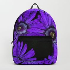 1206ddf3a5ef Buy Purple succulent flowers watercolor effect Backpack by annaki.  Worldwide shipping available at Society6.com. Just one of millions of high  quality ...