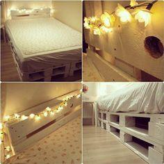 Instagram media by juliesoelby - New bed. ♥♥♥ #bed #room #new #creative #arrangement #totalmakeover #homeservice #lol #design #sofash #girl #girls #bedroom #inspiration #palleseng #palle #europepallet #europapalle #pallet #dk #home #rogerover