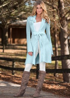 Who knew dressing down could be so gorgeous? Be comfy and cute with the Venus rosette detail cardigan.