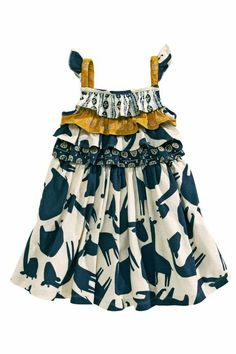 Buy Animal Block Print Floaty Dress from the Next UK online shop Little Girl Fashion, Kids Fashion, Floaty Dress, Sewing Kids Clothes, Girls Dresses, Summer Dresses, Baby Prints, Ladies Dress Design, Fashion Prints
