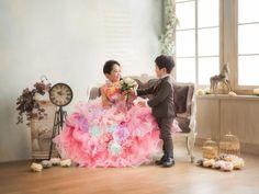 七五三 七歳 五歳 ドレス タキシード 可愛い かっこいい 姉弟撮影