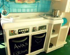 Plastic Play Kitchen tricialynn92 play kitchen makeover plastic play kitchen diy play