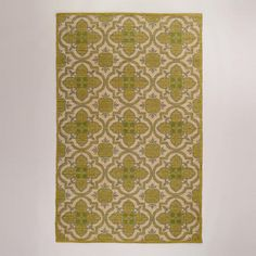 One of my favorite discoveries at WorldMarket.com: 5'x8' Green Arabesque Jute and Cotton Rug