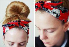 SOMETHiNG MONUMENTAL: DIY Rockabilly Headband
