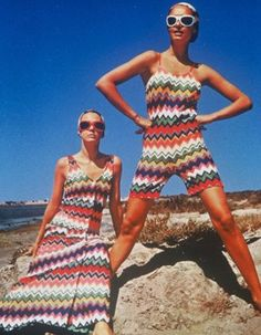 Hitting their stride in the early 1970′s, Missoni started out as a small knitwear workshop in Gallarate, Italy, in 1953 opened by founders Rosita and Ottavio.