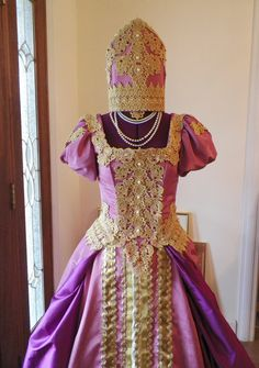 My reproduction Russian Inspired Court Gown or Wedding gown