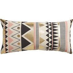 Geometric Janey Pillow from CB2, $39.95