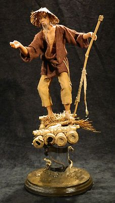 FISHERMAN- Male Polymer Clay Sculpt ooak by Mark A. Dennis | eBay