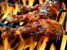 No sugar BBQ sauce. Bariatric BBQ Tips. How to navigate sau ce, slaw and dessert! Grilled Chicken Drumsticks, Grilled Chicken Legs, Glazed Chicken, Grilled Chicken Recipes, Garlic Chicken, Bbq Chicken, Chicken Tikka, Bariatric Eating, Bariatric Recipes