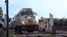 Orlando SunRail Commuter Trains 100 + 105 Arriving And Departing At Orla...