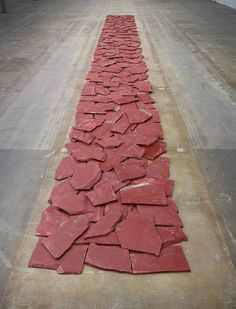 Richard Long, Red Slate Line, 1986, Lisson Gallery