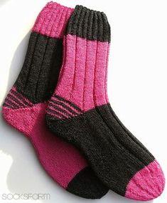 Ich auch...ich auuuuuch! Die Socken haben doch was... Musste ich auch haben... Muster: Two Tone Socks von Nick Cox