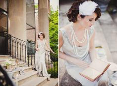 1920's glam... I don't know about the wedding maybe , but I loveee