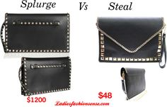 """Splurge vs Steal: Valentino Rockstud Clutch"" by ladiesfashionsense on Polyvore"