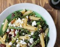 Penne with Roasted Asparagus, Broccolini, and Goat Cheese Recipe « Chef Marcus Samuelsson