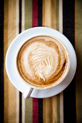 A latte on a napkin. Napkin, Latte, Bakery, Coffee, Food, Kaffee, Eten, Napkins, Bakery Business