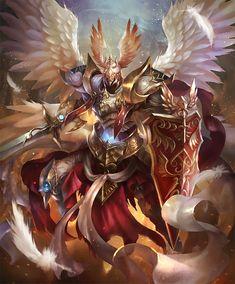 Foto Fantasy, Dark Fantasy Art, Armor Concept, Concept Art, Fantasy Character Design, Character Art, Archangel Tattoo, Angel Warrior, Knight Art
