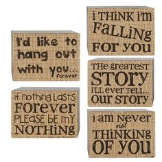 Found it at Wayfair - Love Wall Art Box Sign by Barbara Lloyd 5 Piece Textual Art Set